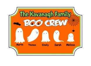 Personalised Acrylic Halloween Family Plaque Design 4